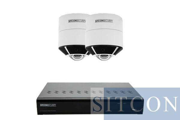 Fisheye 360º Überwachungskamera-Set SMART 2