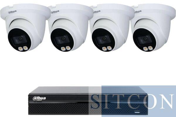 Dahua Full Color Dome-Kamerasystem Weiß 4