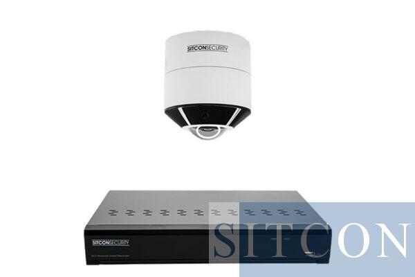 Fisheye 360º Überwachungskamera-Set PLUS 1