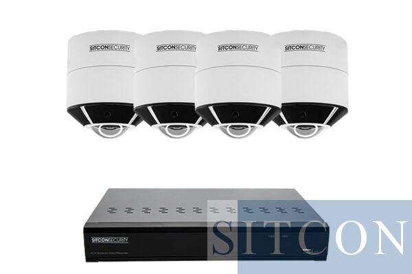 Fisheye 360º Überwachungskamera Set PLUS 4