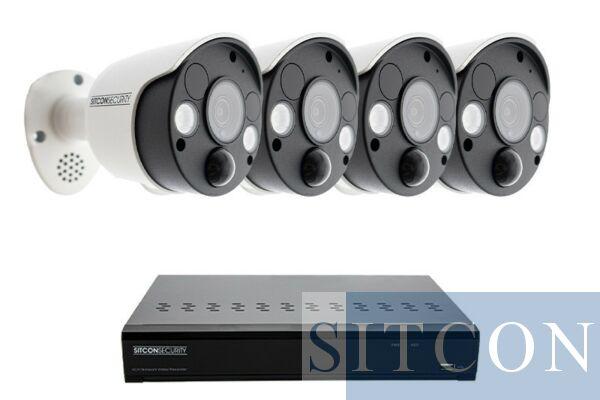 Überwachungslampe Überwachungskamera-Set EINFACH 4