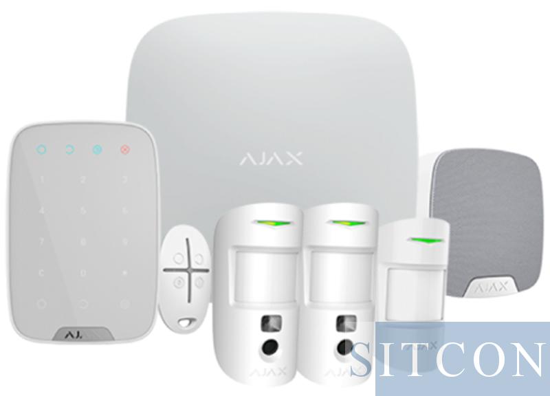 Drahtloses Alarmsystem Deluxe mit PIR-Kamera White SMART