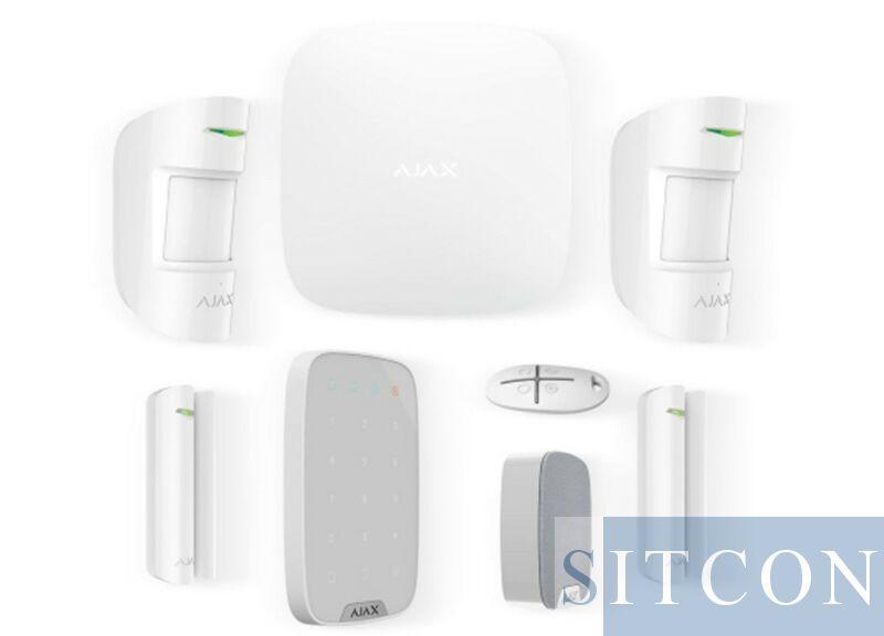 Drahtloses Alarmsystem Deluxe White SMART