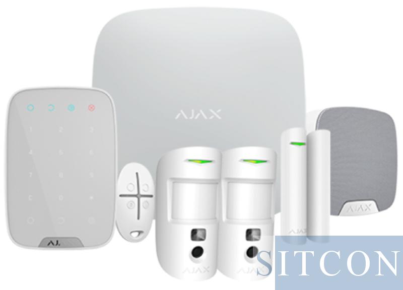 Drahtloses Alarmsystem Komplette PIR-Kamera Weiß SMART