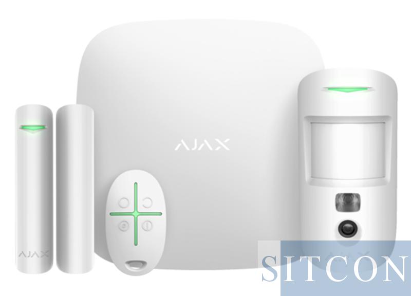 Drahtloses Alarmsystem mit PIR-Kamera White SMART